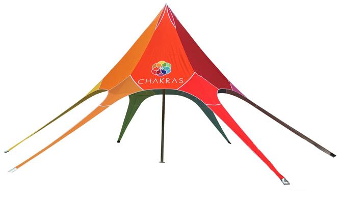 Star tent  5x5x5 m