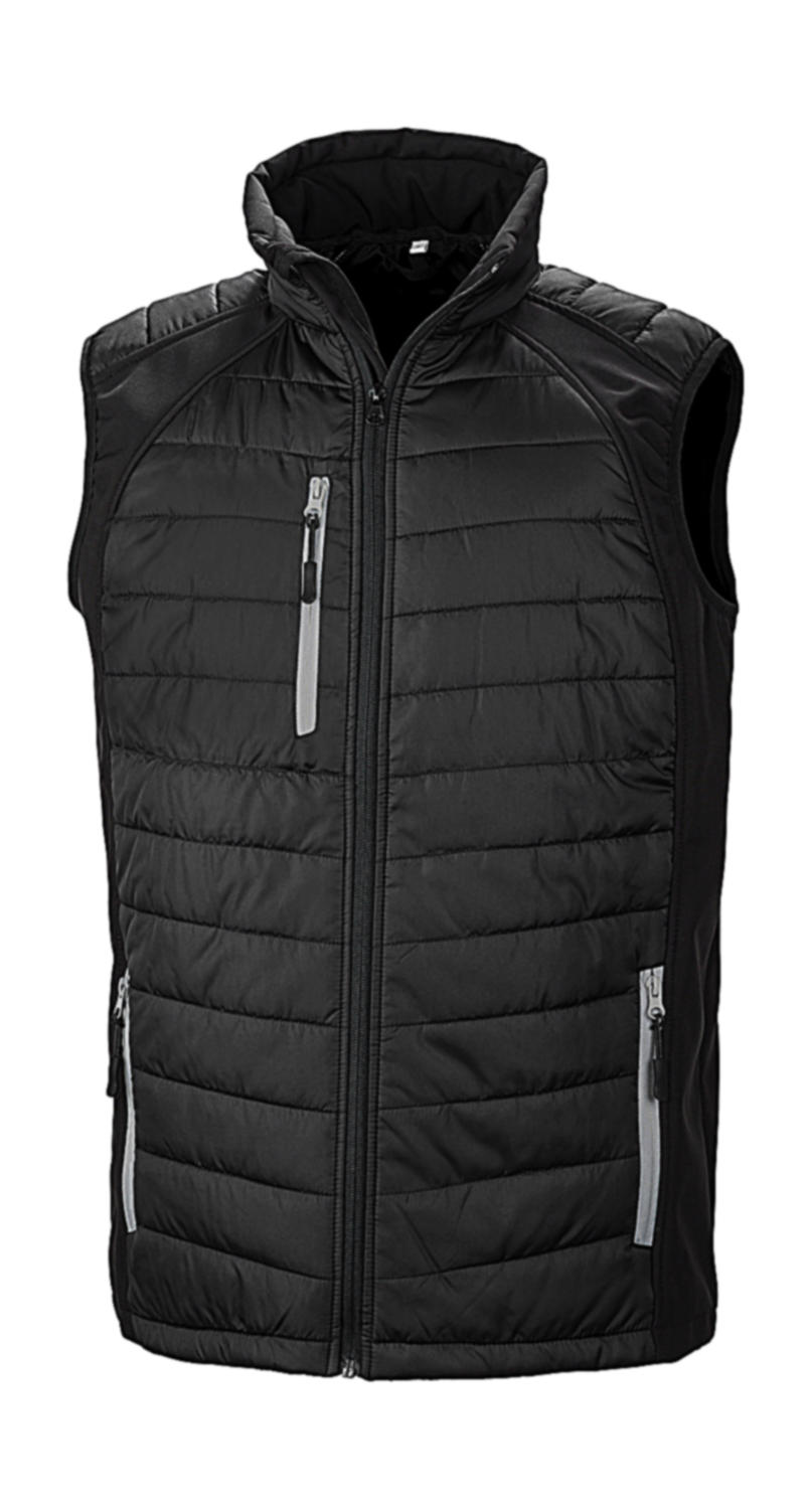 Black Compass Padded Softshell Gilet