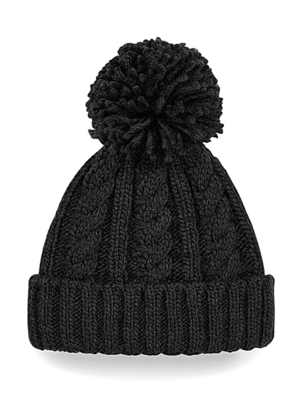 Cable Knit Melange Beanie
