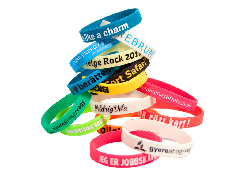 Silicone bracelet 25 mm (printed logo) (Exclusively produced)