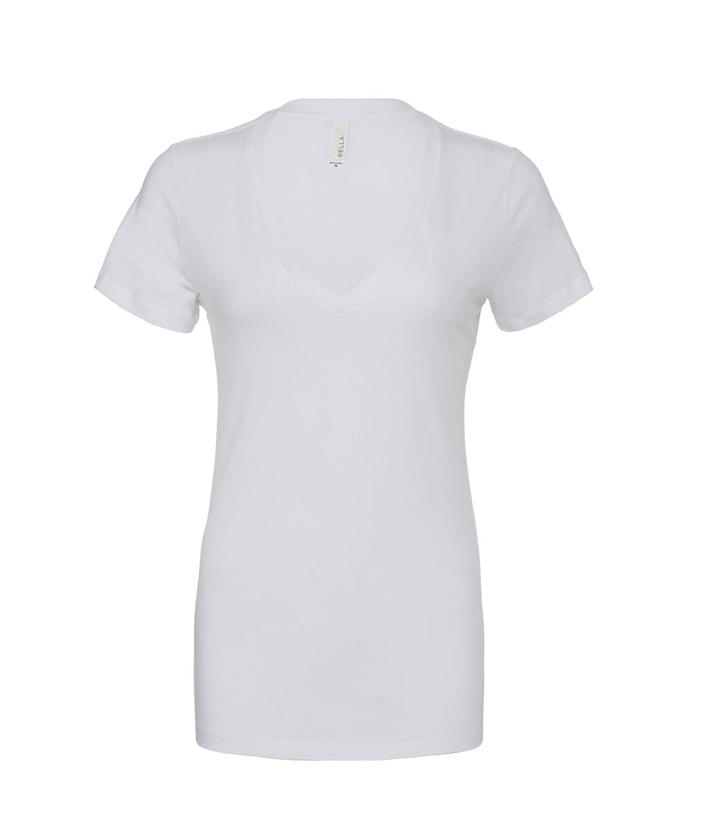 Women`s Deep V-Neck Jersey T-Shirt