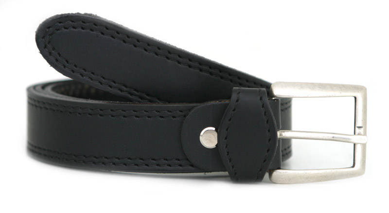 Fashion belt T silver (black)