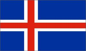 Table flag Iceland (big)