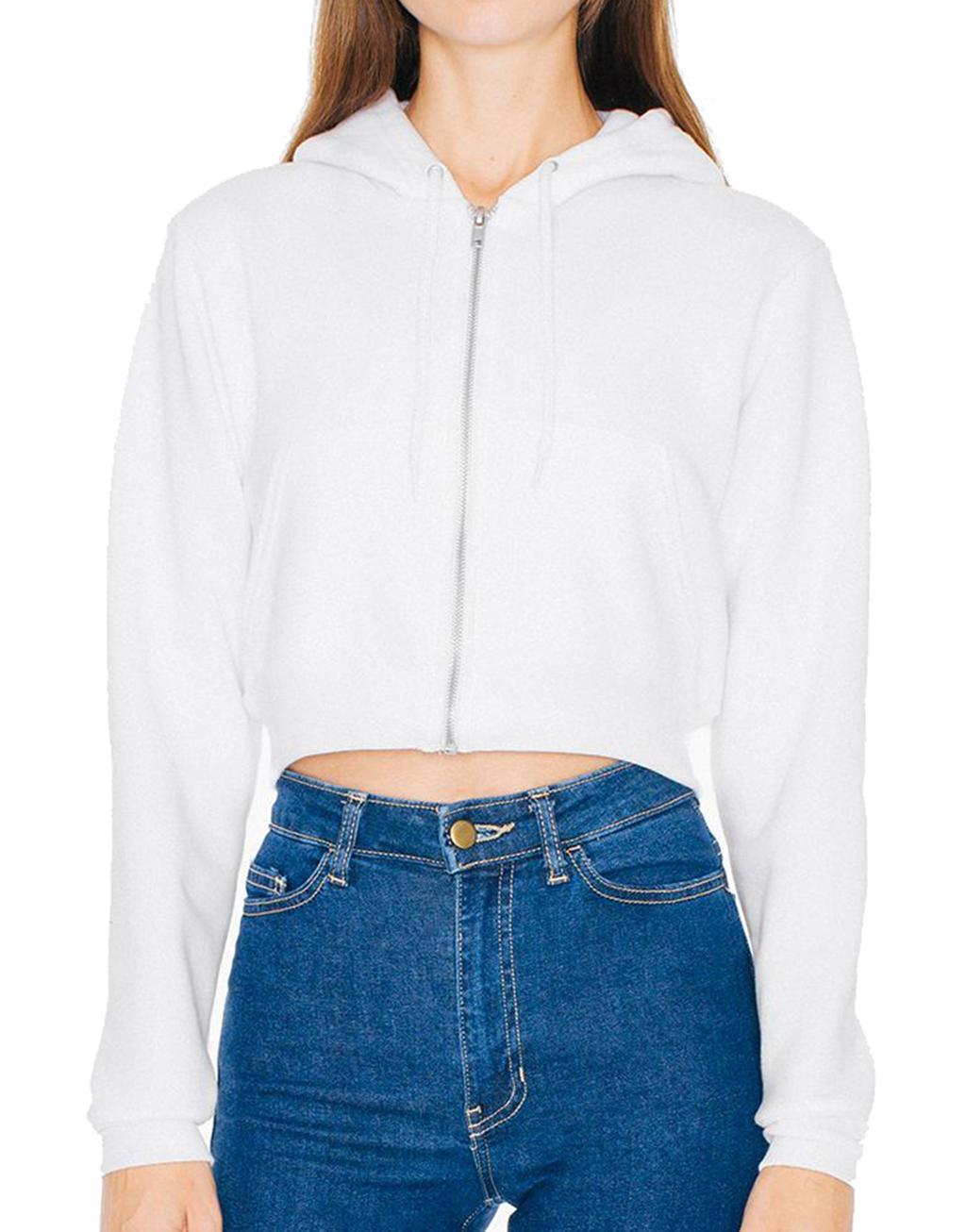 Women`s Flex Cropped Zip Hooded Sweat