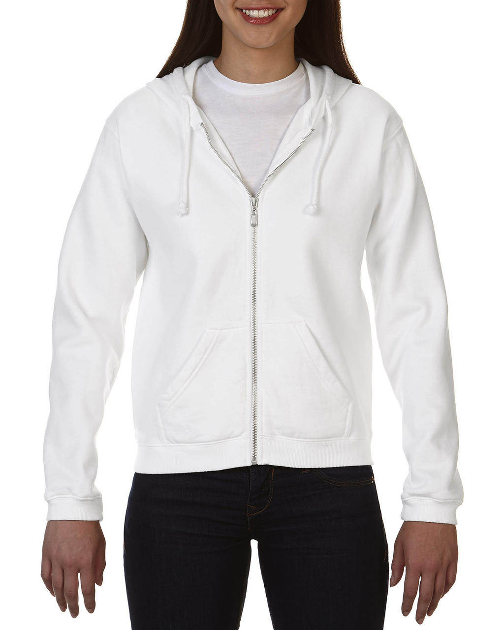 Ladies` Full Zip Hooded Sweatshirt