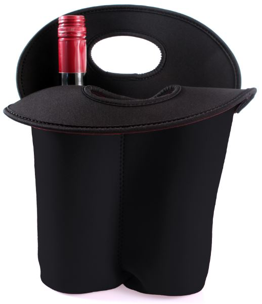 Wine holder in neoprene (2 bottles) (Custom made)