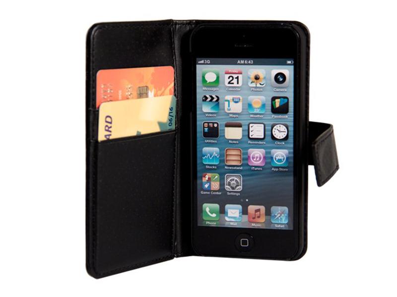 Plånboksfodral i läder (iPhone 7)