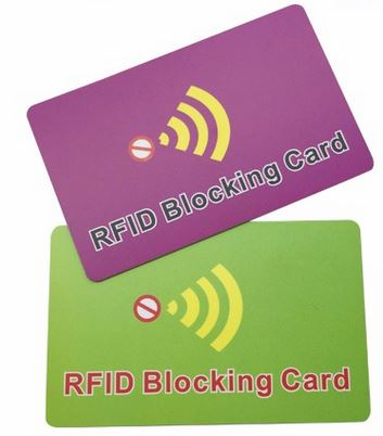 RFID blocking card (Custom made)