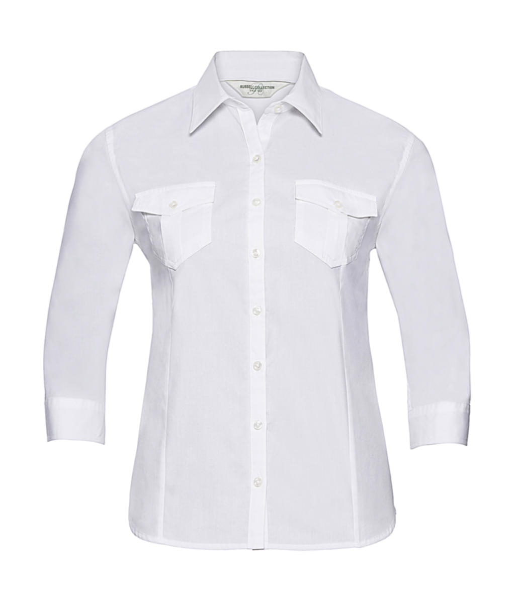 Ladies` Roll 3/4 Sleeve Shirt