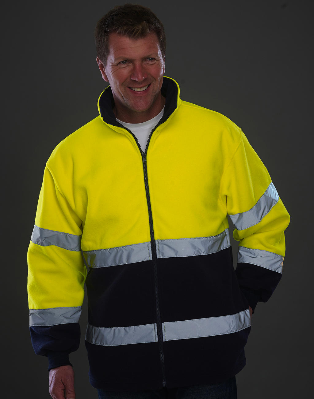 Fluo 2-Tone Fleece Jacket