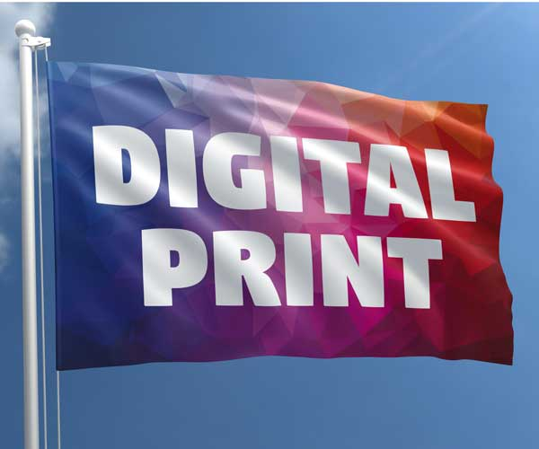 Digital printed flag (200 x 120 cm)