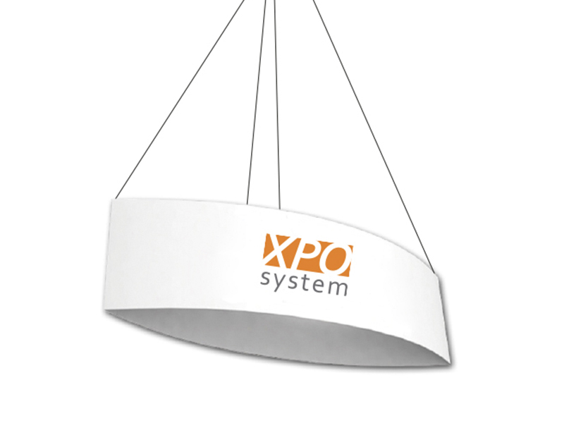Oval ceiling banner (300 cm, H 105 cm) (Exclusively produced)