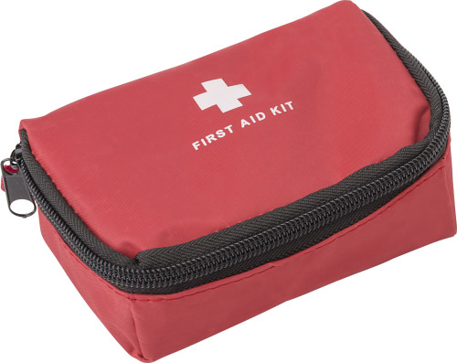 First aid kit in nylon pouch