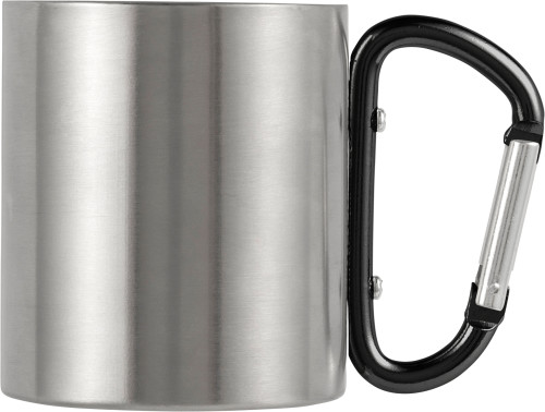 Stainless steel, double walled travel mug (200 ml)