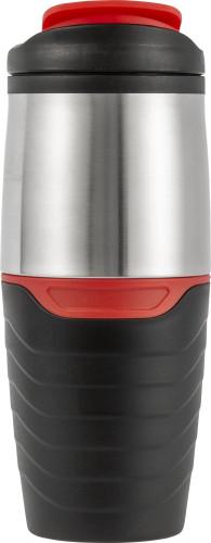 Termomugg (459 ml) med lock av rostfritt stål, botten i plast