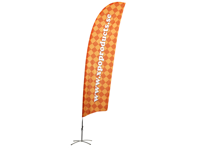 Beach flag Concave double side print (L)