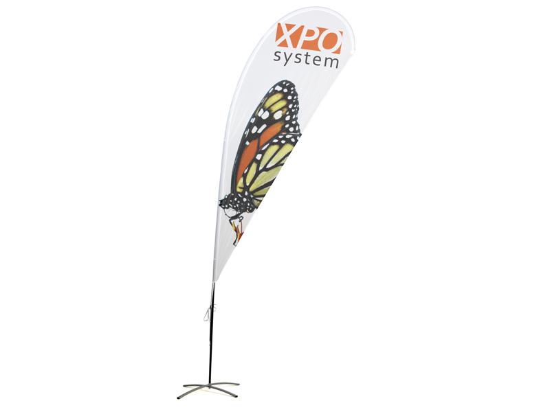 Beach flag Drop double side print (XXS) (Custom made)