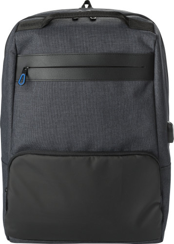 PVC backpack with anti-theft back pocket.