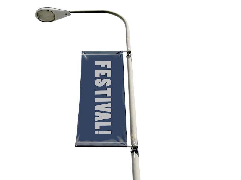 Street banner flag 90x300 cm