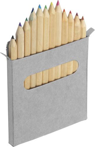 Twelve colour pencil set