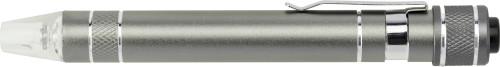 Pen shaped pocket screwdriver.