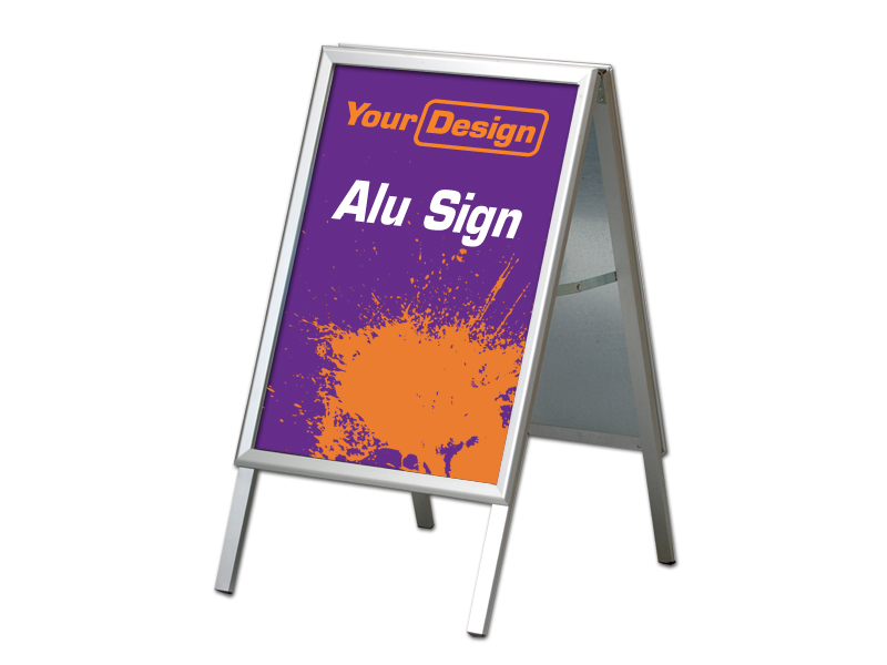 Sign Alu stand (70 x 100 cm) (Custom made)