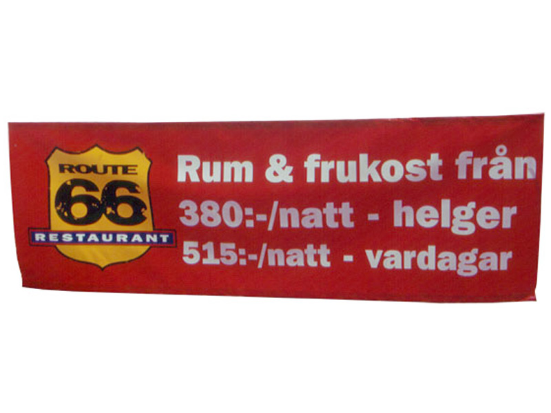Polyester banner Banderoll (2 x 1 m)