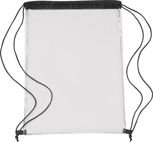 Transparent PVC drawstring backpack