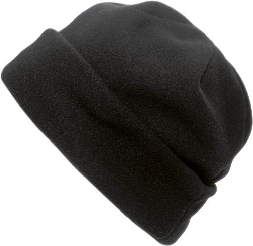 Polyester fleece beanie.