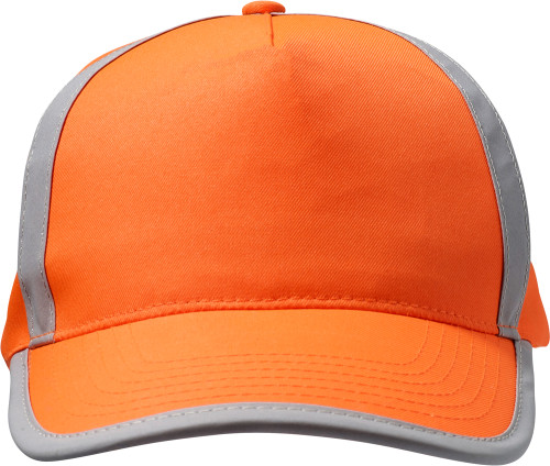 Cap with five panels with reflective lines