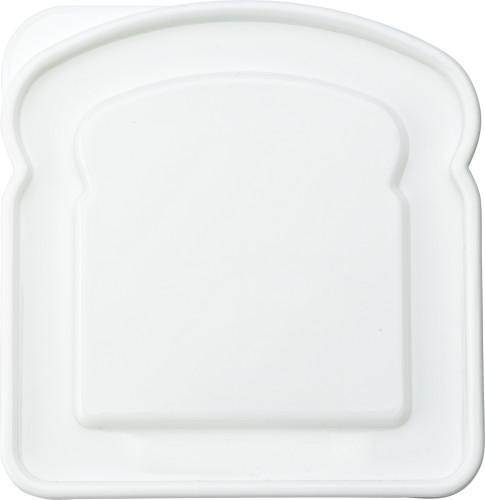 Lunchbox i plast i form av brödskiva