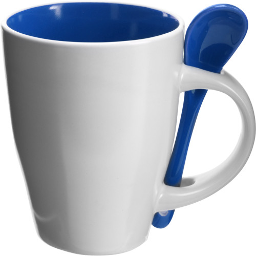 Coffee mug with spoon (300ml)