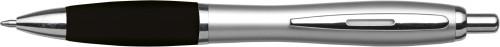 Plastic ballpen, silver barrel