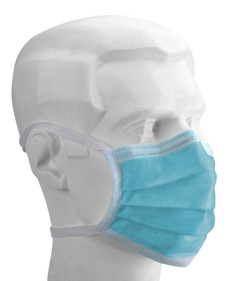 Disposable surgical mask Type IIR sterile with tie bands
