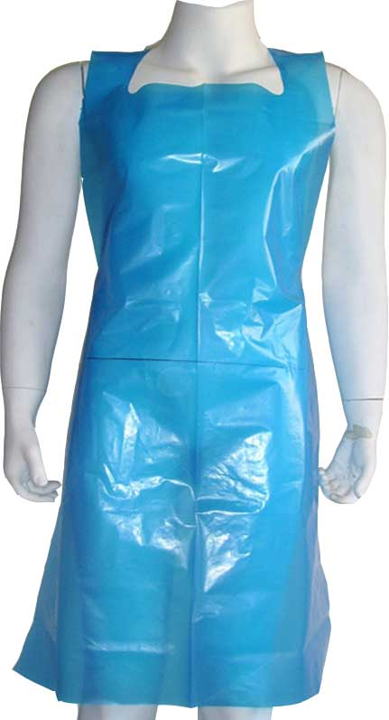 Protective apron in PE