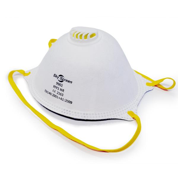 FFP3 Filtrerande halvmask med ventil, kupformad