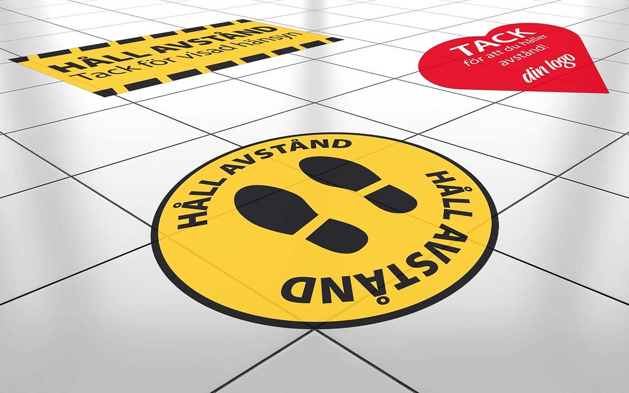Floor sticker, laminated