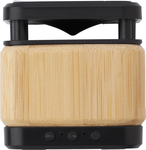 Bamboo and ABS wireless speaker and charger