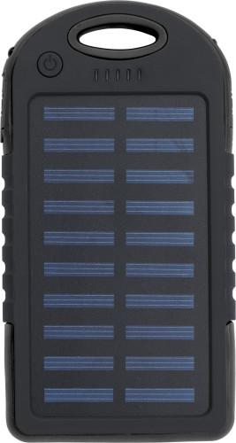 Rubberized ABS solar power bank
