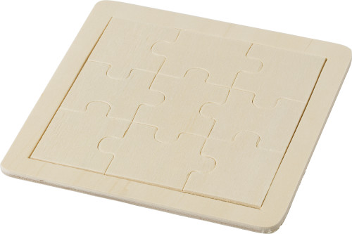 Wooden nine piece puzzle