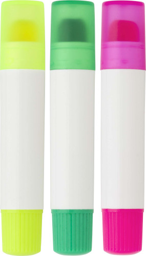 Set of three gel markers
