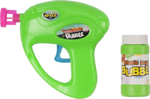 Plastic bubble gun