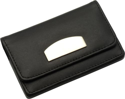 Bonded leather business card holder