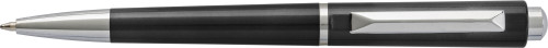 Plastic ballpen with silver coloured tip