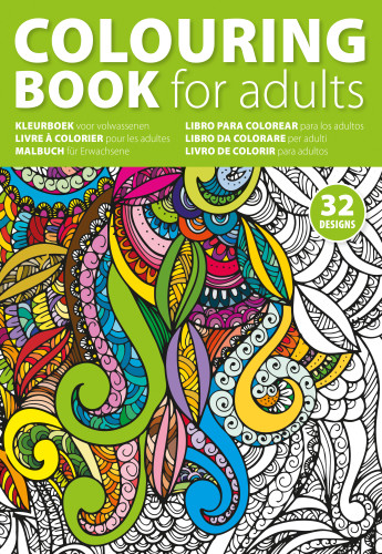 A4 Adult's colouring book.