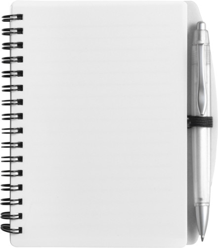 A6 Wire bound notebook and ballpen