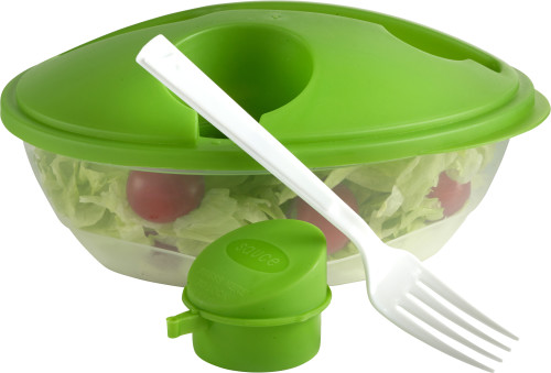 Oval shaped salad box.