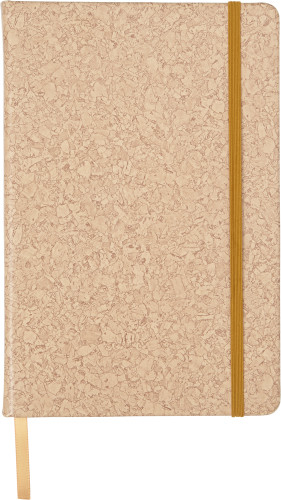 PU covered notebook with cork print (A5)