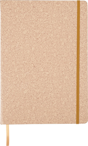 PU covered notebook with cork print (A4)