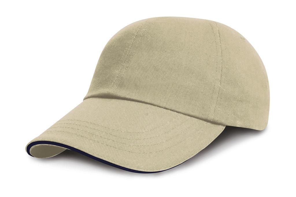 Brushed Cotton Sandwich Cap